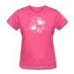 Plus Size Cotton T-Shirt With Bursting Valentine's Day Hearts - heather pink