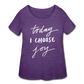 Today I Choose Joy - Plus Size Ladies' Curvy T-Shirt Dark - LAT - Sizes 1X - 4X - heather purple