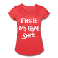 This Is My Gym Shirt - Women's Tri-Blend V-Neck T-Shirt - heather red