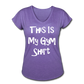 This Is My Gym Shirt - Women's Tri-Blend V-Neck T-Shirt - purple heather
