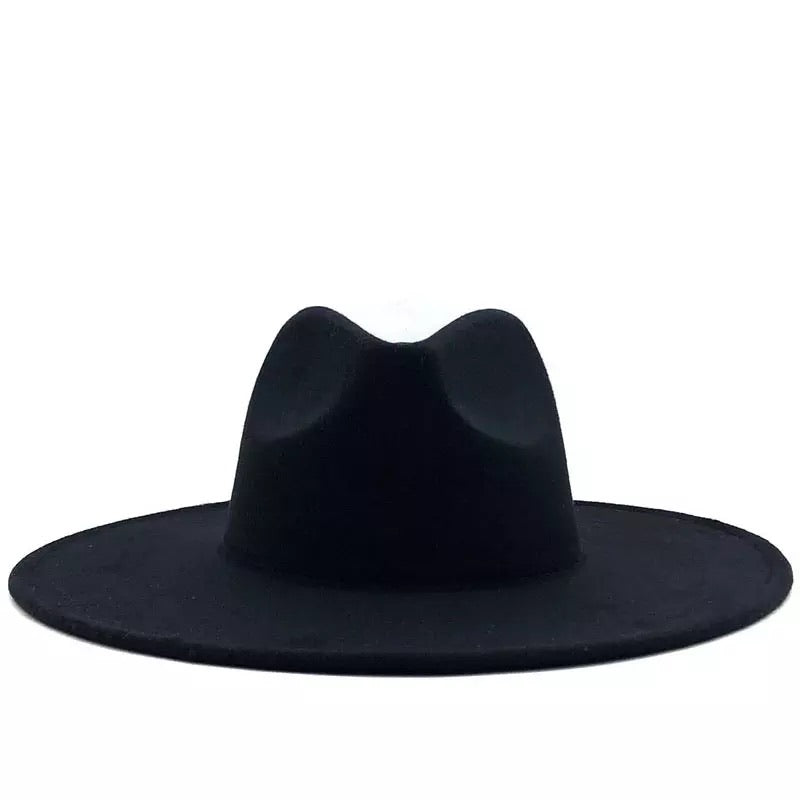 Solid Wide Brim Fedora