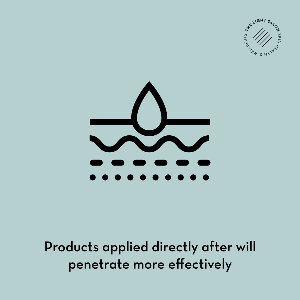 Product applied directly after will penetrate more effectively