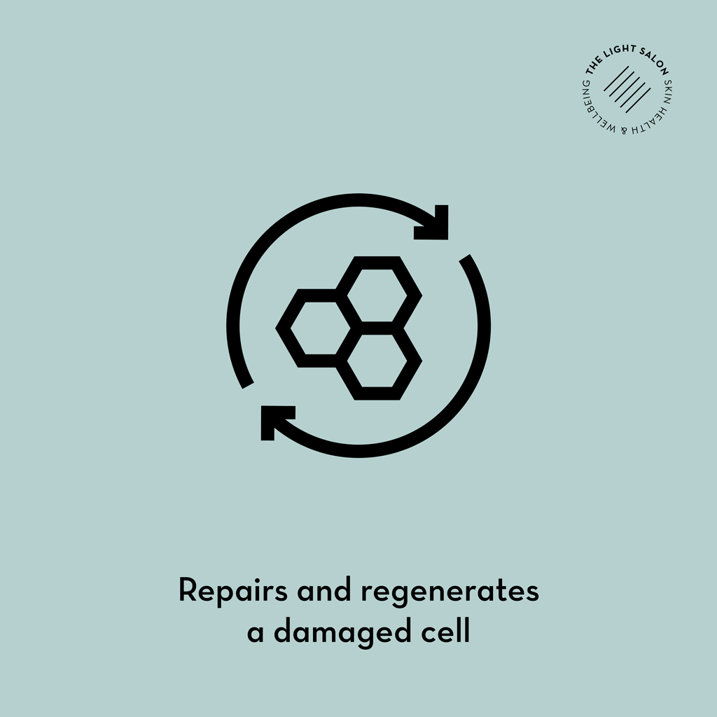 LED repairs and regenerates damaged cells