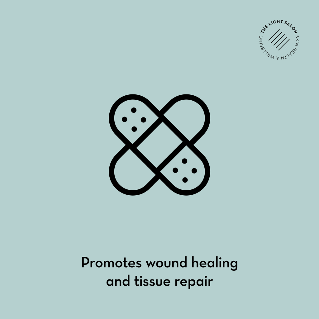 LED promotes wound healing and tissue repair