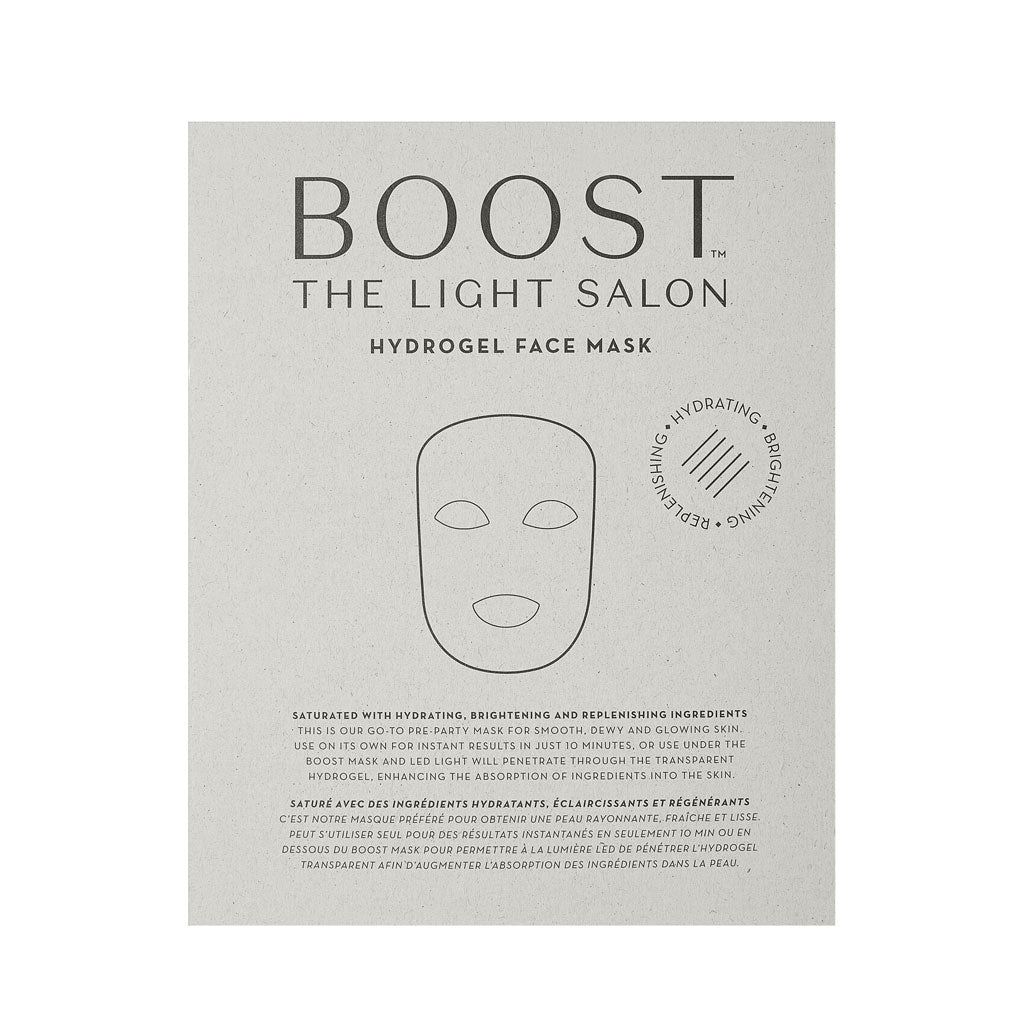 Boost Hydrogel Face Mask - 3 Pack