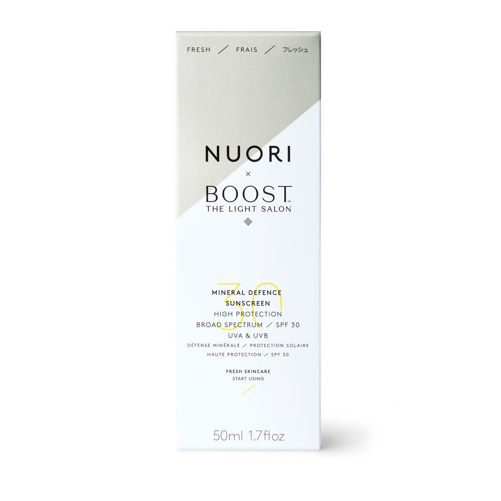 NUORI x The Light Salon Mineral Defence Sunscreen SPF30