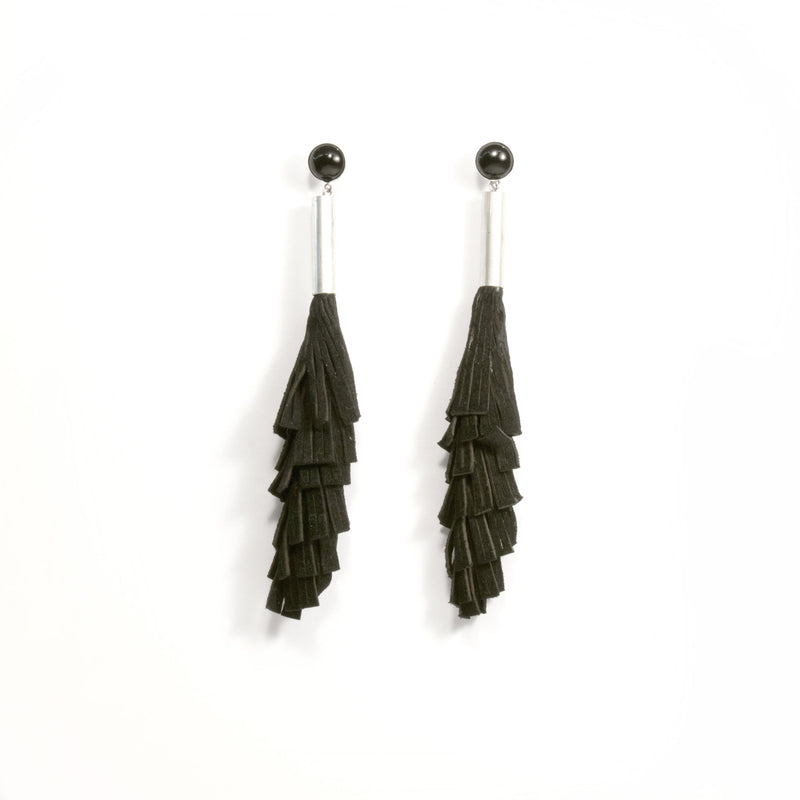 Black Mesh Earrings