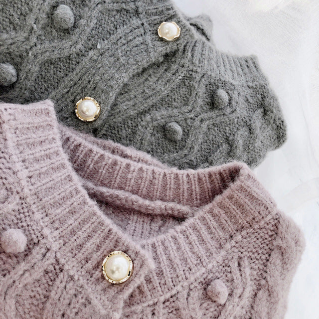Fall Winter Fancy Warm Knitting Cardigan Coats For Women