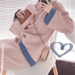 Fall Winter Fancy Striped Mink-like Knit Sweater&Skirt Two Piece Set For Women