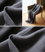 Plus Size Fall/Winter Elegant Solid Color Batwing Sleeve Knitting Maxi Cardigan Overcoat Women