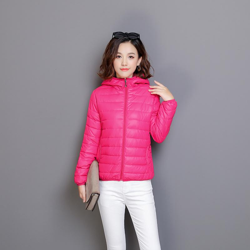 Plus Size Fall Winter Fashion Warm Hooded Light Short Down Coats For Women