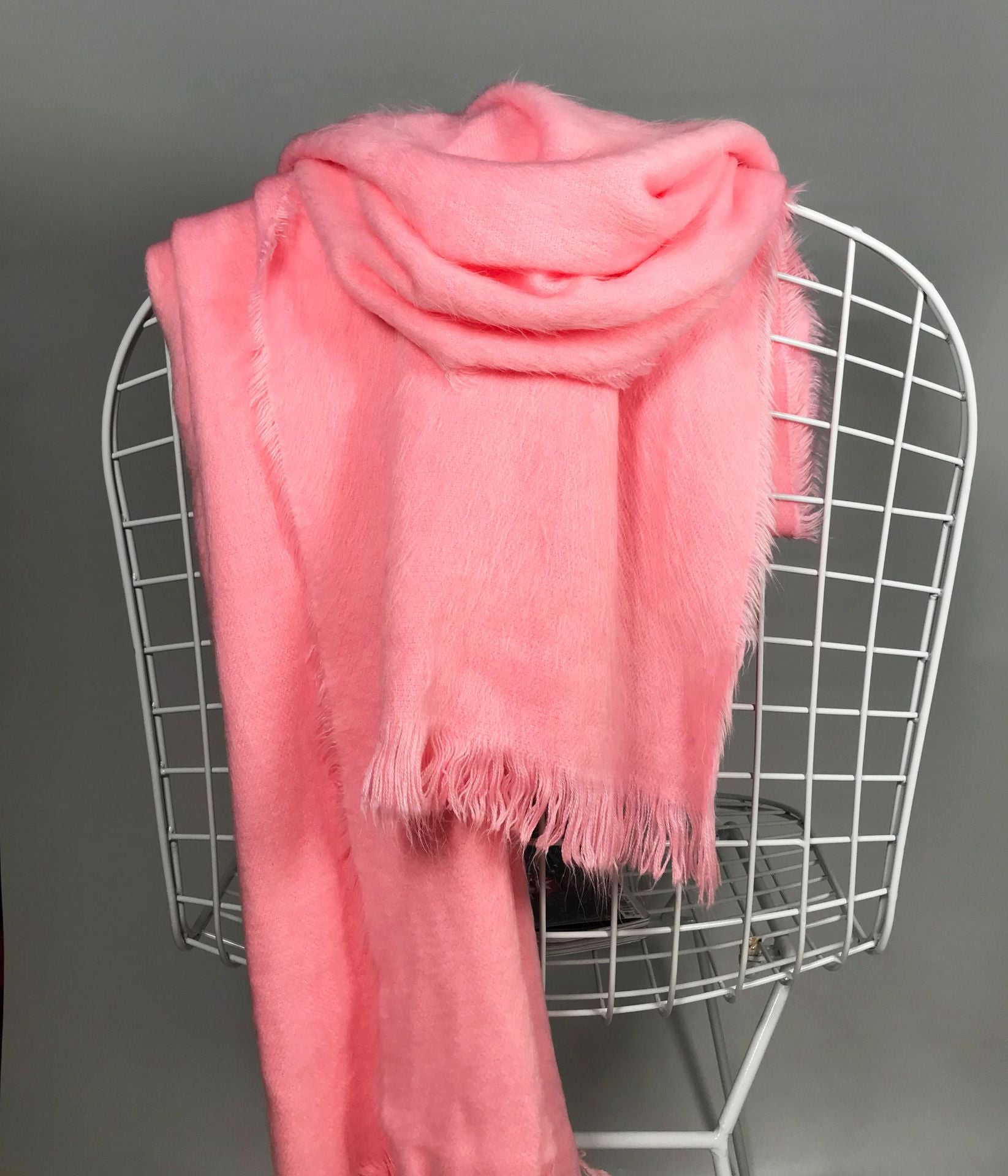 Fall Winter Casual Warm Cashmere-like Multifunctional Solid Color Overlength Cape/Scarf  For Women