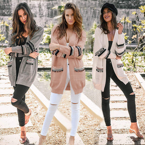 Fall/Winter Plus Size Boho Casual Long Sleeve Loose Knitting Cardigan Coat