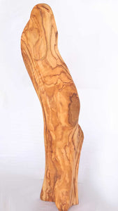 Handcrafted Sculpture from Reclaimed Olive Wood