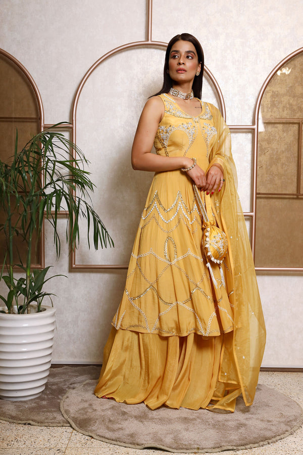 Anarkali With Dupatta And Plazo