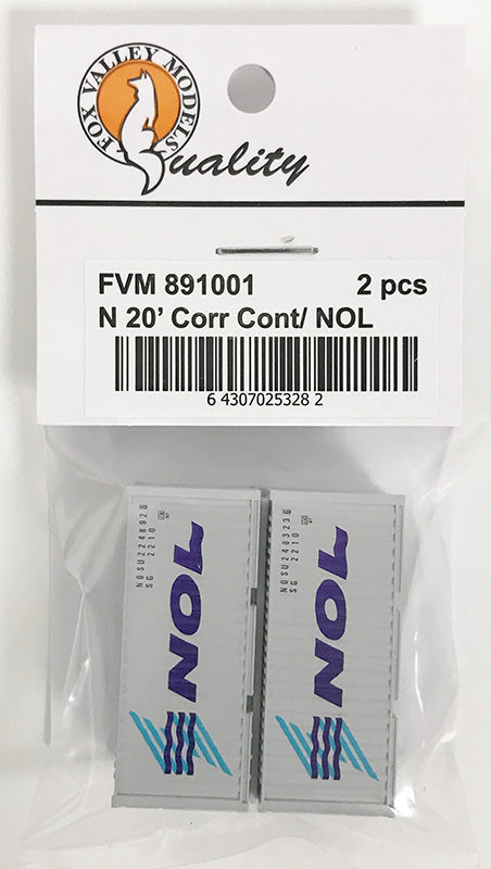 FVM 891001 20' Corrugated Container/ NOL 2 Pack