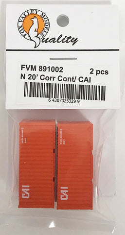 FVM 891002 20' Corrugated Container/ CAI 2 Pack