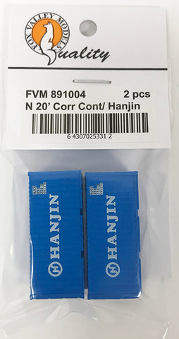 FVM 891004 20' Corrugated Container/ Hanjin 2 Pack
