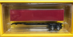 S 40' Container w/Chassis - Red