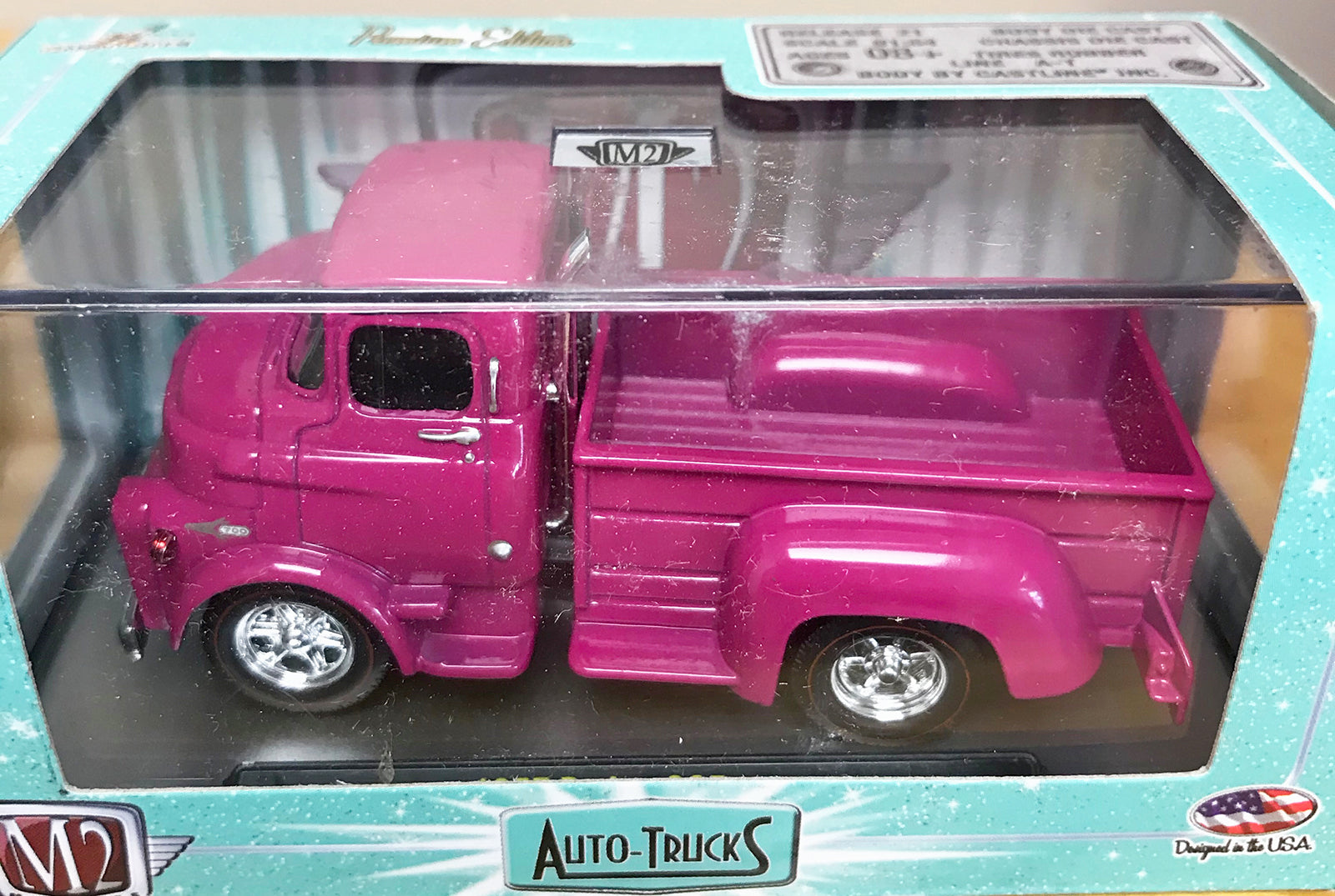 S 1957 Dodge COE Pick up - Pink