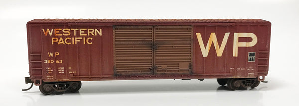 N Custom Weathered Boxcar/ WP DD