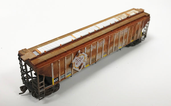 N Custom Weathered 3 Bay 4750 Hopper/ KO #769465