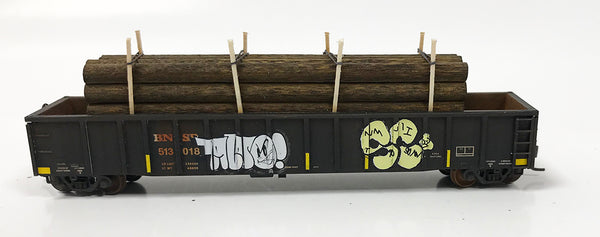 N Custom Gondola w/ Pole Load BNSF #513018