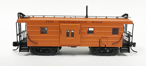 N Milw 1946 Built Caboose/ Maroon Let - No number