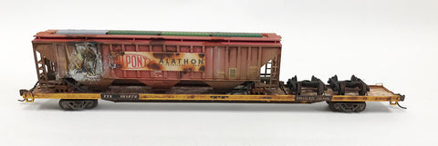 N Custom 89' Flat w/Damaged Dupont Hopper