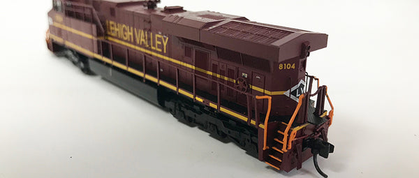 N Detailed GEVO - NS Lehigh Valley #8104 Modified with nose stripes