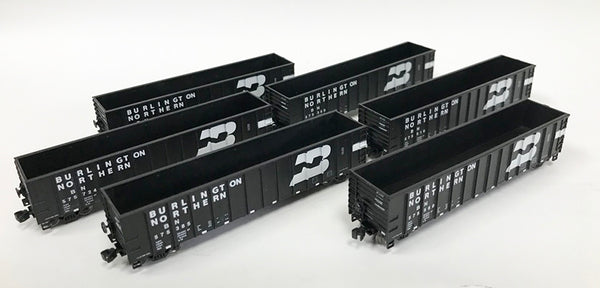 N PS Coal Gondola 6 pack - Burlington Northern