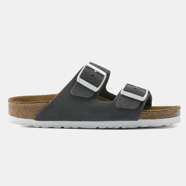 Birkenstock ARIZONA Gunmetal with Soft Footbed
