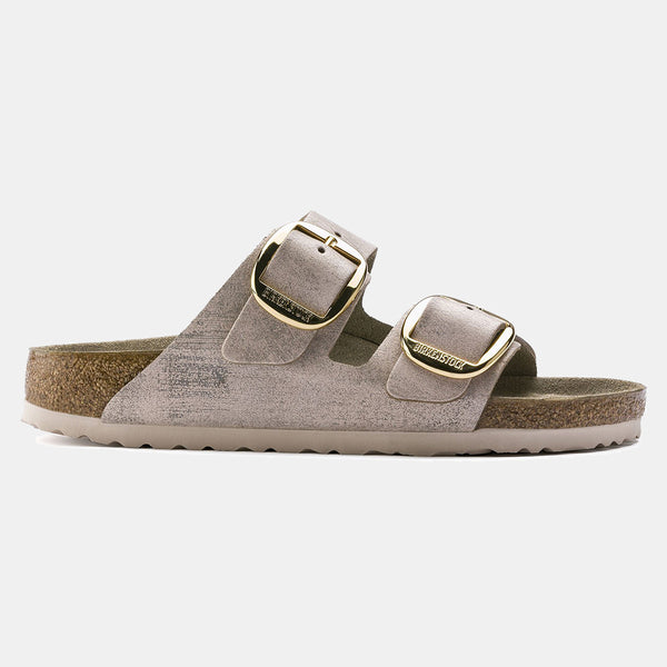 Birkenstock ARIZONA Washed Metallic Rose Gold with Big Buckle