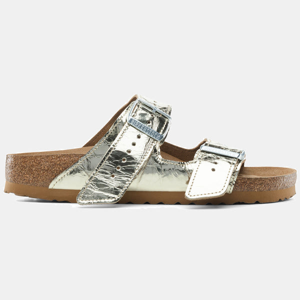 Birkenstock ARIZONA RICK OWENS Creased Metallic Gold