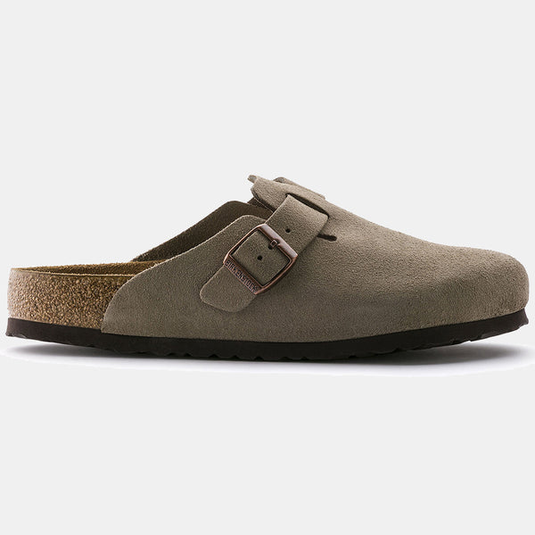 Birkenstock BOSTON Taupe with Soft Footbed