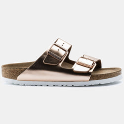 Birkenstock ARIZONA Metallic Copper with Soft Footbed