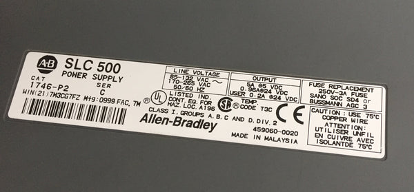 Allen-Bradley SLC 500 Power supply