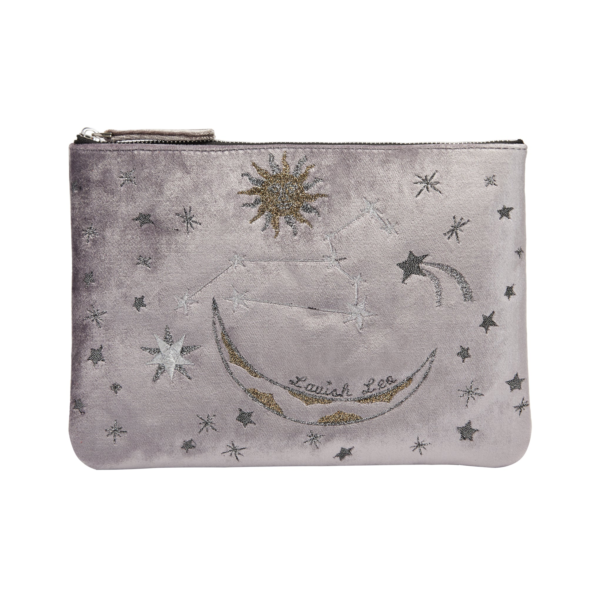 Horoscope Clutch with Velvet