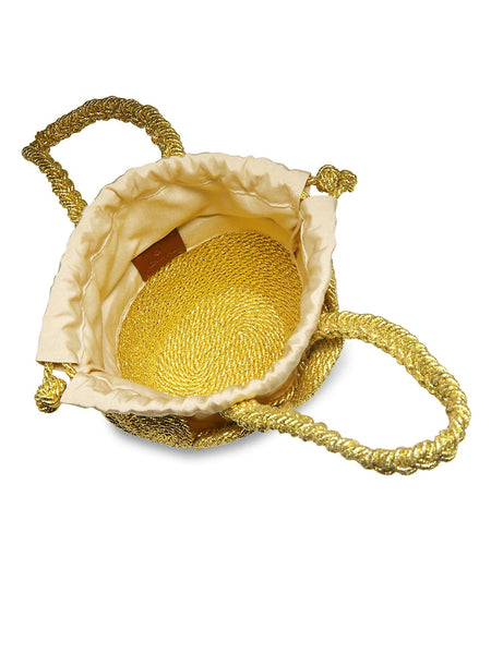 Chacha Basket with Satin Rope