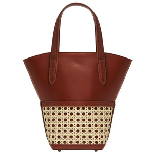 LouLou Bag with Leather/Rattan