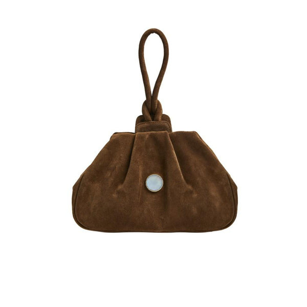 Agatha Wristlet Bag with Suede