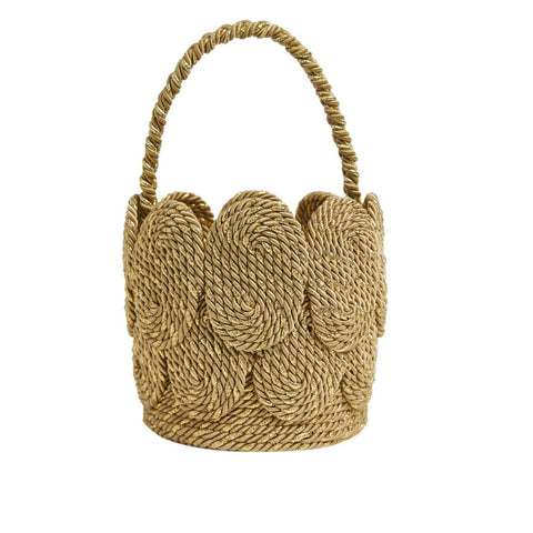 Chacha Bucket with Satin Rope