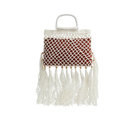Lucia Market Bag with Raffia