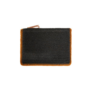 Terra Clutch with Raffia