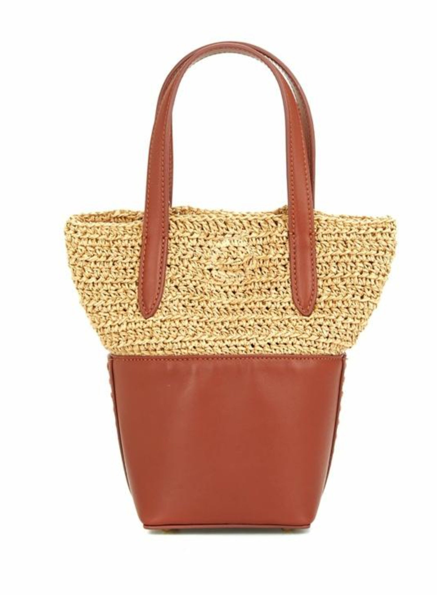 LouLou Bag with Handwoven Raffia/Leather