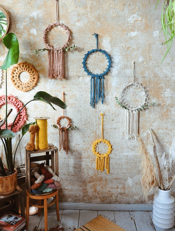 Macrame Wreath Do It Yourself - California Dreaming