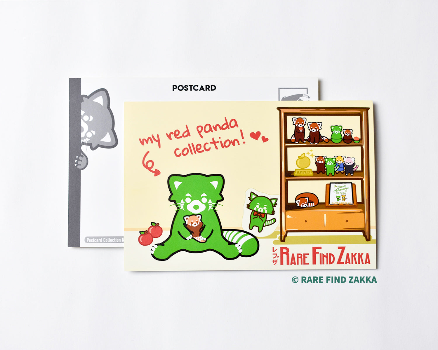 "RFZ ORIGINALS Postcard Collection No.03 ""my red panda collection ♥"""