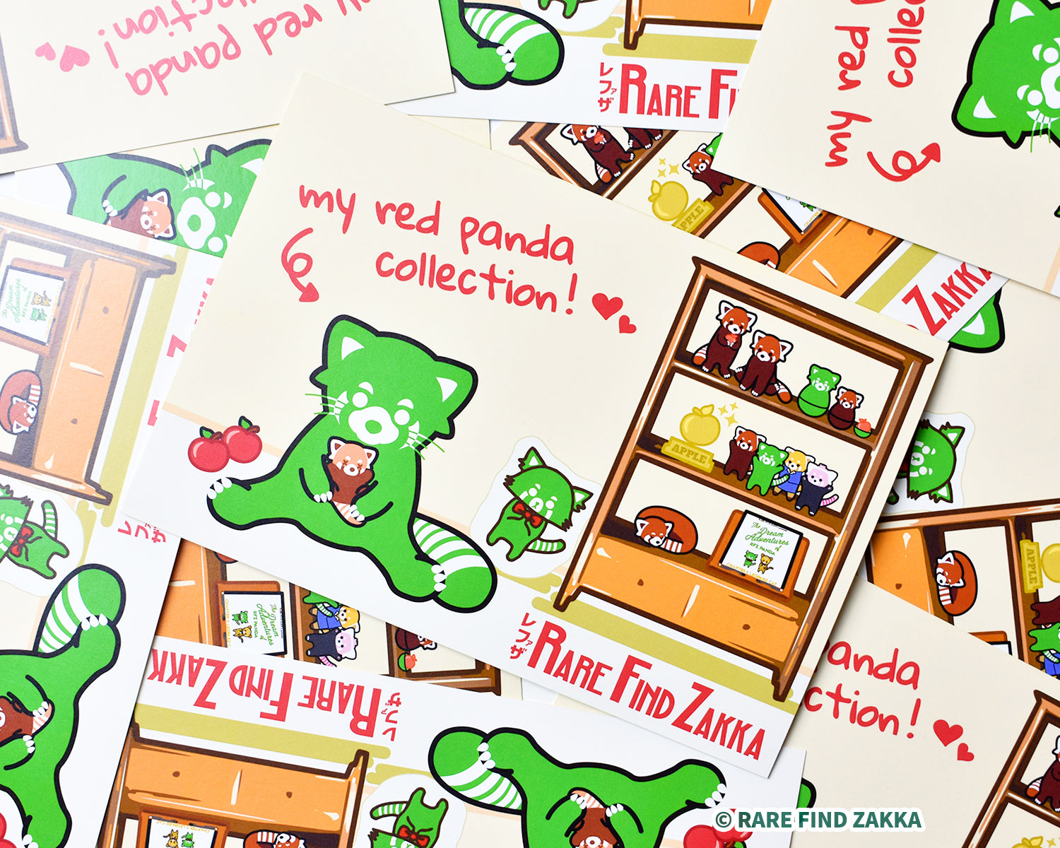 RFZ ORIGINALS 明信片系列 No.03「my red panda collection ♥」