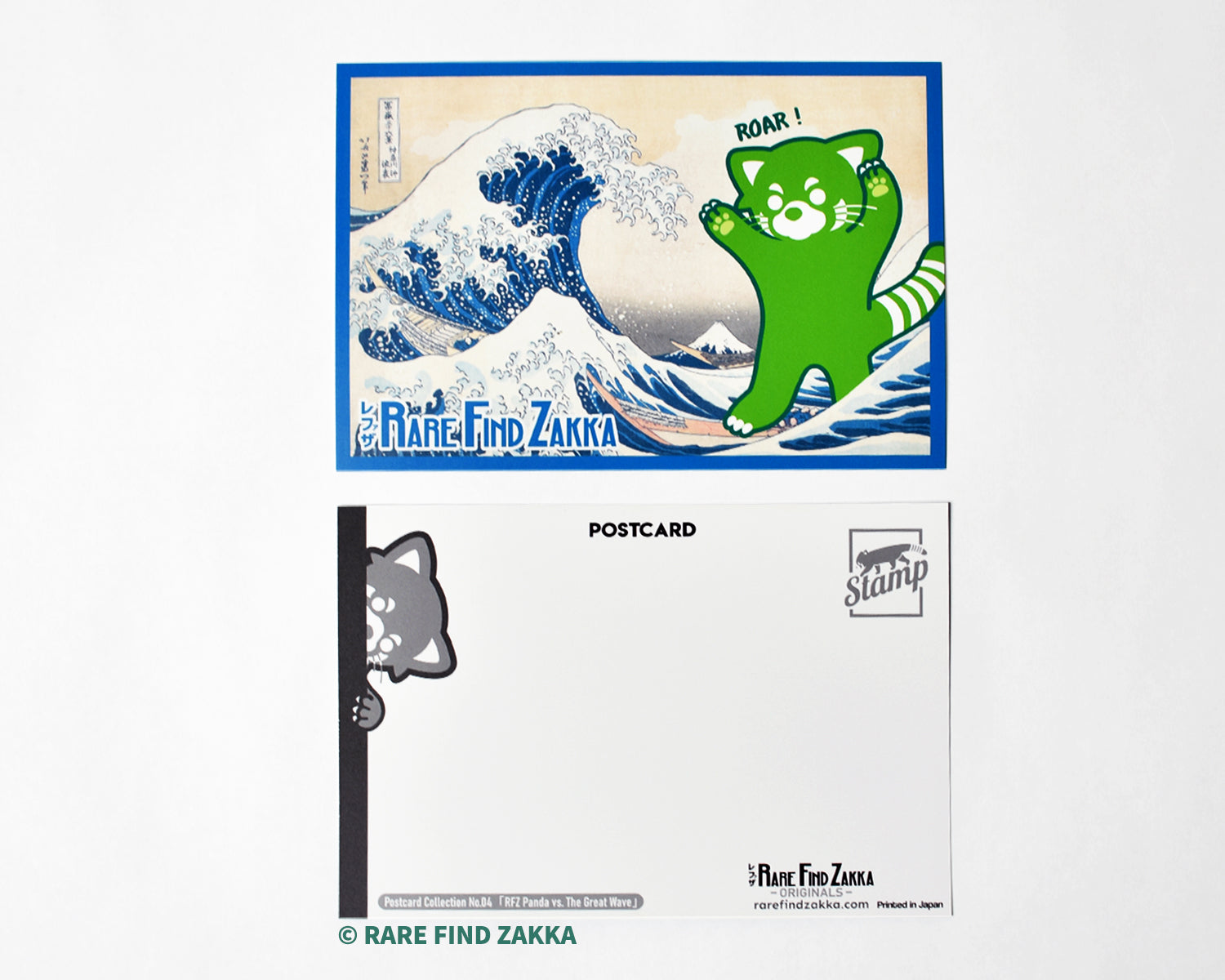 "RFZ ORIGINALS Postcard Collection No.04 ""RFZ Panda vs. The Great Wave"""