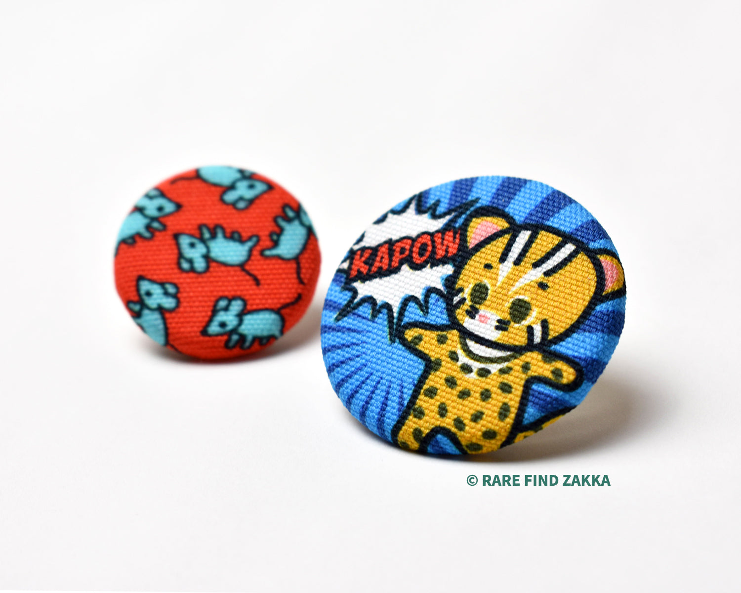 Fabric Badge Set #02 Comic Style - Leopard Cat / Rat Brothers
